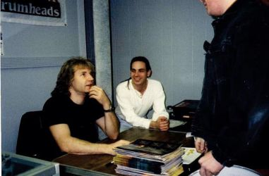 "Pat and ""Kiss"" drummer Eric Singer  Doing an Autograph session together."