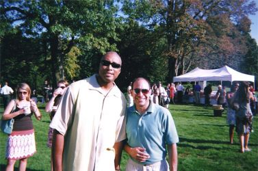 Pat with NY Yankees Legend Bernie Williams